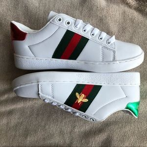 New Gucci Women's Ace Embroidered Sneakers Shoes